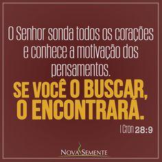 Nova Semente - Frases da Bíblia - Versículos -Deus - II Crônicas 28:9