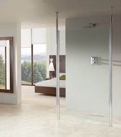 Curbless Shower System with a Linear Drain   #trendingaccessibility #goingcurbless #aginginplace
