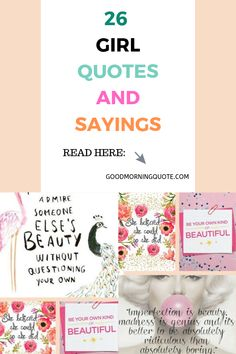 26 Interesting Girls Quotes and Sayings with Images Inspirational Quotes For Girls, Motivational Quotes For Success, Positive Quotes, Girl Smile Quotes, Funny Girl Quotes, Think Positive Thoughts, Positive Attitude, Some Quotes, Love Quotes For Him