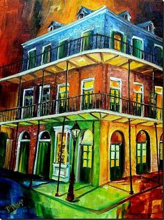 'Nawlins Rainbow' by Diane Milsap.  Bold and distinctive spin on this vibrant city