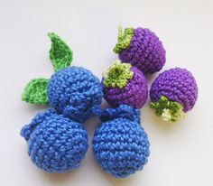 1 piece - #crochet blueberries , Teether teeth , #play #food , kitchen decoration, crochet Berries game food vegetables eco-friendly toys Hi! In my shop now has krasivyya croc... #toys #vegetables #veggies #tomato #carrot #turnip #happiness