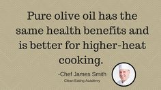 CE Tip 15: Don't cook with EVOO (and save money!) #EatCleanIn2016