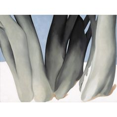 Artwork by Georgia O'Keeffe, Bare Tree Trunks with Snow, Made of Oil on canvas