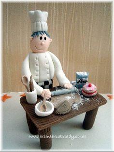 Chef cake topper