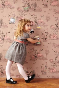 Wallpaper you can play with. This magnetic wallpaper provides hours of magical fun.