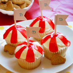 These look easy to make!  Big Top Cupcakes | Disney Junior