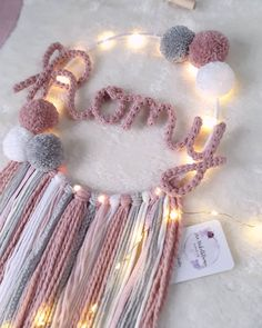 Fun Easy Crafts, Diy Home Crafts, Crafts For Kids, Crochet Home Decor, Crochet Crafts, Baby Doll Bed, How To Make A Pom Pom, Pom Pom Crafts, Feather Crafts