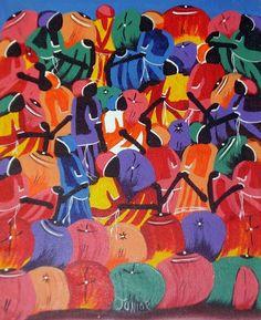 Cuadros Modernos Pinturas : Negras Africanas al Óleo