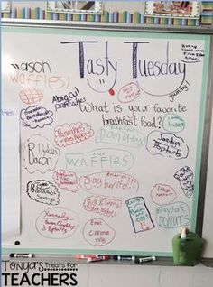 Tonya's Treats for Teachers: {Daily Graffiti Wall} (writing prompt) Future Classroom, School Classroom, Classroom Activities, Classroom Organization, Google Classroom, Childcare Activities, Work Activities, Classroom Ideas, Morning Board