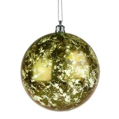 Gold Flecked Shatterproof Bauble - 80mm