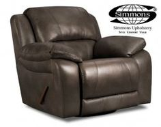 Blackjack Cocoa swivel glider recliner in brown leather -- this is a hard-working man's chair!! #AFPinspiredHome