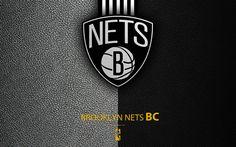 Indir duvar kağıdı Brooklyn Nets, 4K, logo, basketbol kulübü, NBA, basketbol, amblem, deri dokusu, Ulusal Basketbol Birliği, Brooklyn, New York, AMERİKA Birleşik Devletleri, Atlantik grubu, Doğu Konferansı
