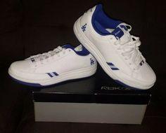 fbf37707827823 Details about Reebok G-Unit G6 2 Mens Low Top Shoes Size 10.5 White 3M Blue 50  Cent RARE 2004