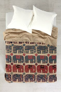 Magical Thinking One-Of-A-Kind Handmade Blue Elephant Quilt #urbanoutfitters