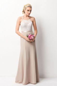 0becb7b1bc0 Wtoo 257 Halter Bridesmaid Dress with Sequin Lace. Satin Bridesmaid Dresses BridesmaidsBridal Wedding DressesWedding AttireWedding ...