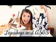 Topshop & ASOS Clothing Haul | Zoella - YouTube