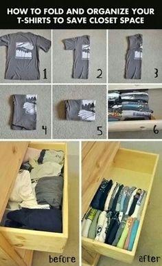 how to fold tee shirts