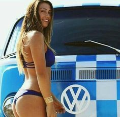 Bikini girls washing minivans — pic 4