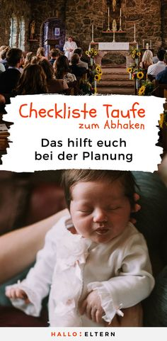 Checkliste Taufe: So wird es ein ganz besonderer Tag No planning chaos at the christening preparation: checklist for baptism to check # babies Baby Baptism, Christening, Tag Pin, First Week Of Pregnancy, Pregnancy Info, Bff, Winnie The Pooh Birthday, Baby Boy Gifts, Mother And Baby