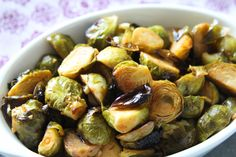 I'm back with another brussel sprout recipe!  I make brussel sprouts in some way, shape or form every week...I'm obsessed with them!  I like them wit