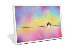 Birds Laptop Skin Computer Skin Love Birds on a Wire Vinyl