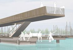 Gallery of ASTOC Architects wins first prize for Senftenberg Harbor competition … – Entwurf Water Architecture, Sustainable Architecture, Architecture Design, Floating Architecture, Pavilion Architecture, Ancient Architecture, Residential Architecture, Contemporary Architecture, Parque Linear