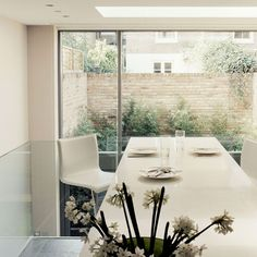 Robinson van Noort - Contemporary Residential Design, London - Acfold Road, London - Kitchen - Interior Design - Bespoke kitchen design - kitchen island - room with a view - Basement Conversion Modern Family, Home And Family, Basement Conversion, Bespoke Kitchens, Interior Design Kitchen, Dining Table, Contemporary, Kitchen Island, Room