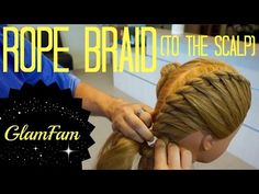 How to Rope Braid to the Scalp   2 strand twists - YouTube