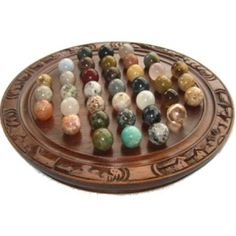 Solitaire  - assorted gemstone marbles