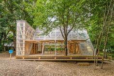 "Atelier Bow-Wow - ""Osthang Project"" Temporary Architecture, Bamboo Architecture, Architecture Details, Bamboo Structure, Timber Structure, Bow Wow, Tree Hut, Temporary Structures, Roof Detail"