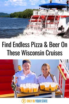 You'll love the beautiful scenery and endless pizza, soda, and beer on these Mississippi River cruises in Wisconsin. Find them in the La Crosse area for a great date, or fun with family and friends. Mississippi River Cruise, La Crosse Wisconsin, Best Bucket List, Cruise Offers, Pizza And Beer, Hidden Beach, Magical Forest, Swimming Holes, Beautiful Scenery