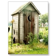 Cartoon outhouse postcards pinterest for Garden shed jokes