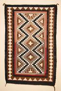 "Crystal Navajo Rug  34"" x 53""  Circa 1930"