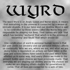 Wyrd meaning