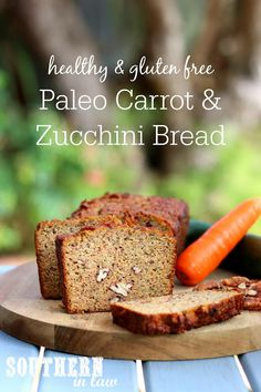 Perfect for breakfast, snacks or dessert, this Paleo Zucchini Carrot Bread is so easy to make and so delicious to eat! Refined sugar free, gluten free, grain free and clean eating friendly. Carrot Zucchini Bread, Sugar Free Zucchini Bread, Carrot Bread Recipe, Zucchini Bread Recipes, Dairy Free Bread, Carrot Recipes, Almond Recipes, Paleo Bread, Banana Bread