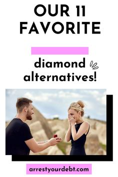 If diamonds are too expensive or you don't like how they are mined, our 11 favorite diamond alternatives may be your solution! From Moissanites to Cubic Zirconia, we have all the basics covered, and also a few suprises! #diamond #wedding #engage Finance Blog, Finance Tips, Money Tips, Money Saving Tips, Diamond Alternatives, Thing 1, Get Out Of Debt, Early Retirement, Budgeting Finances