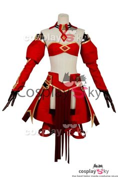 Fate/Apocrypha FA Saber of Red Mordred Dress Cosplay Costume_9
