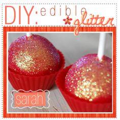- DIY ; edible glitter
