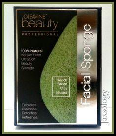 Oleavine Konjac French Green Clay Infused Facial Sponge