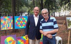 Pop Art Fredo Lima: Eu e o Governador de São Paulo Geraldo Alckmin