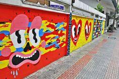 Hattie Stewart paints Bangkok!  / BUKRUK street art festival / #urbanart