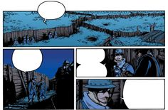 "Pictures from ""Le reverse de la medaille"" Pictures from page 38 of La mandiguerre, tome III. Text: JD Morvan. Art: Stefano Tamiazzo. #stefanotamiazzo #morvan #bd #comics #fumetti #delcourt #steampunk"