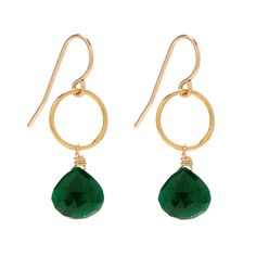 Emerald Drop Earring - I love the color and simplicity.