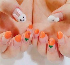 60 cute and colorful easter nail art designs for spring 2019 18 Easter Nail Designs, Easter Nail Art, Cute Nail Designs, Kawaii Nail Art, Cute Nail Art, Gel Nails, Manicure, Nail Nail, Nail Polish