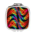 #Fractal #Silk #Rainbow #Square #Compact #Mirror
