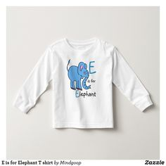 E is for Elephant T shirt