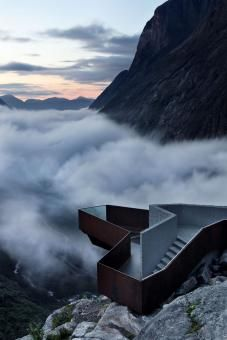 National tourist route Trollstigen by Reiulf Ramstad Arkitekter (Geiranger, Norway) Located on Norway's west coast, Trollstigen is perched within a dramatic pass between the deep fjords that characterize the region.
