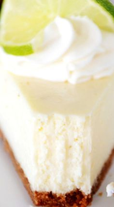 Amazing Key Lime Plus a Foolproof Easy Method to Avoid Cracking ~ A delicious and simple ultra-creamy key lime cheesecake recipe that is certain to wow anyone who has a slice! Cheesecake Recipes, Dessert Recipes, Lime Desserts, Key Lime Cheesecake Recipe Easy, Dessert Tarts, Cheesecake Cookies, Salty Cake, Savoury Cake, Mini Cakes