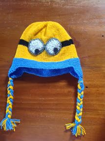 """""""Despicable Me"""" Minion Ear Flap Hat – Knitting Pattern 