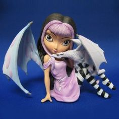 The Bradford Exchange Jasmine Becket-Griffith Lavender Fairy - Dragonling Companions Collection